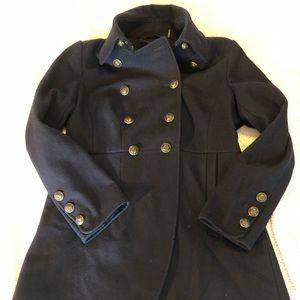 DKNY navy wool pea coat